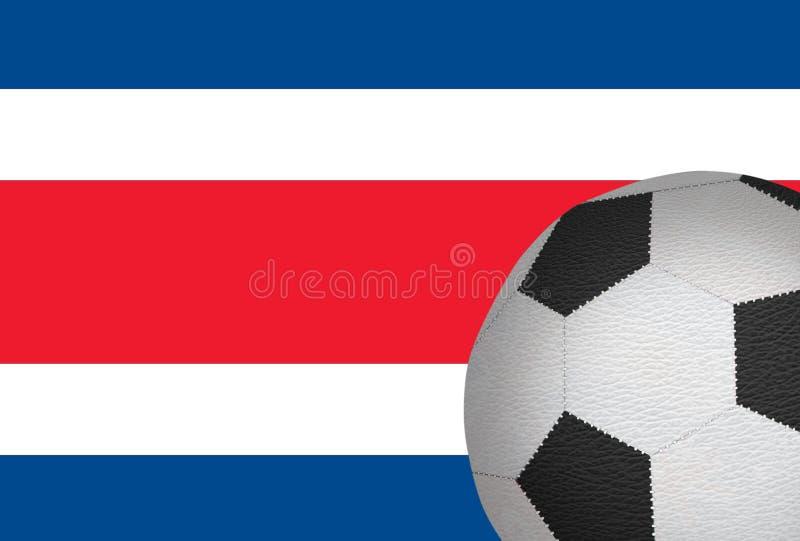反对肋前缘里科旗子的橄榄球球  向量例证