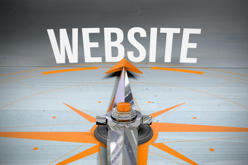 反对被漂白的木板条背景的网站 向量例证