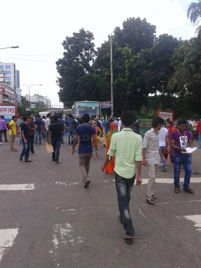 反对illigal大桶的抗议在教育 免版税库存照片
