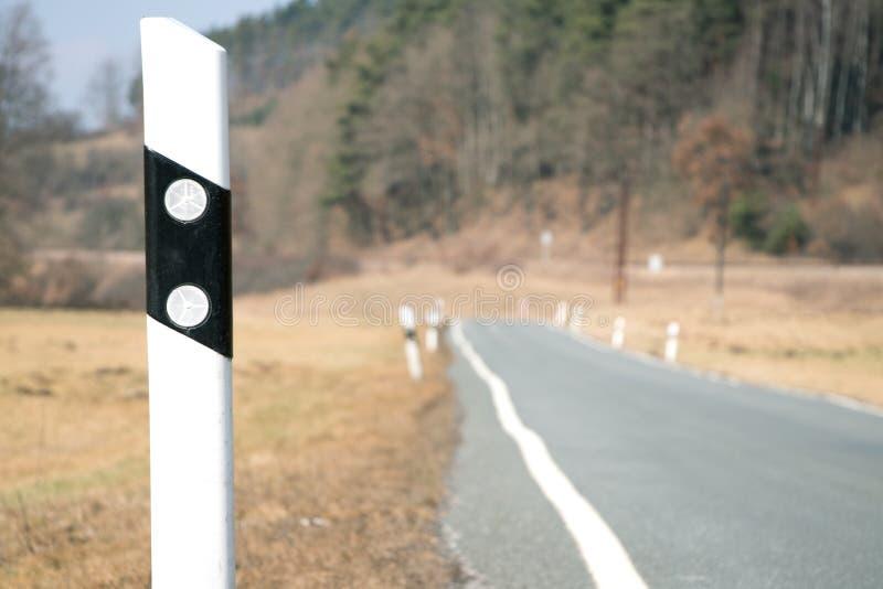 反射器岗位和路 库存图片