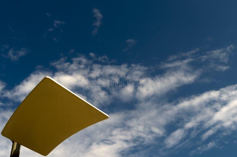 反射器装在面板上在优选光束的定向性的灯岗位 库存图片