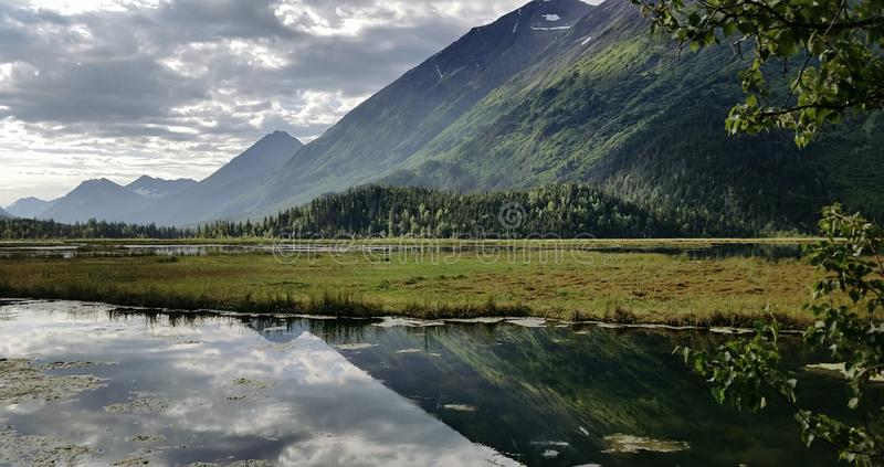 反射的阿拉斯加 免版税库存照片