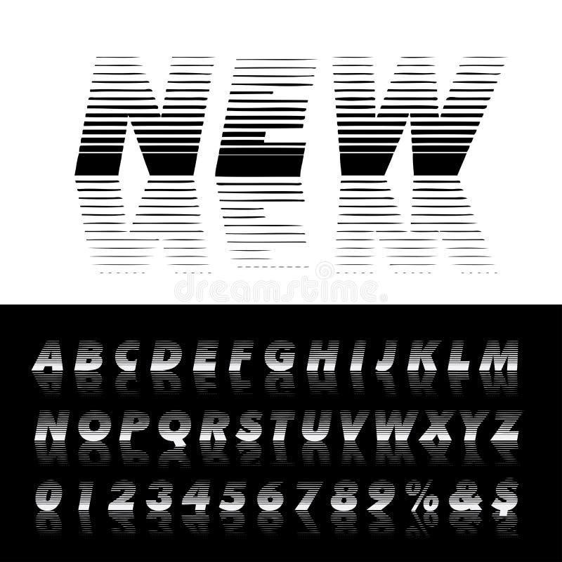 反射线字体2 皇族释放例证