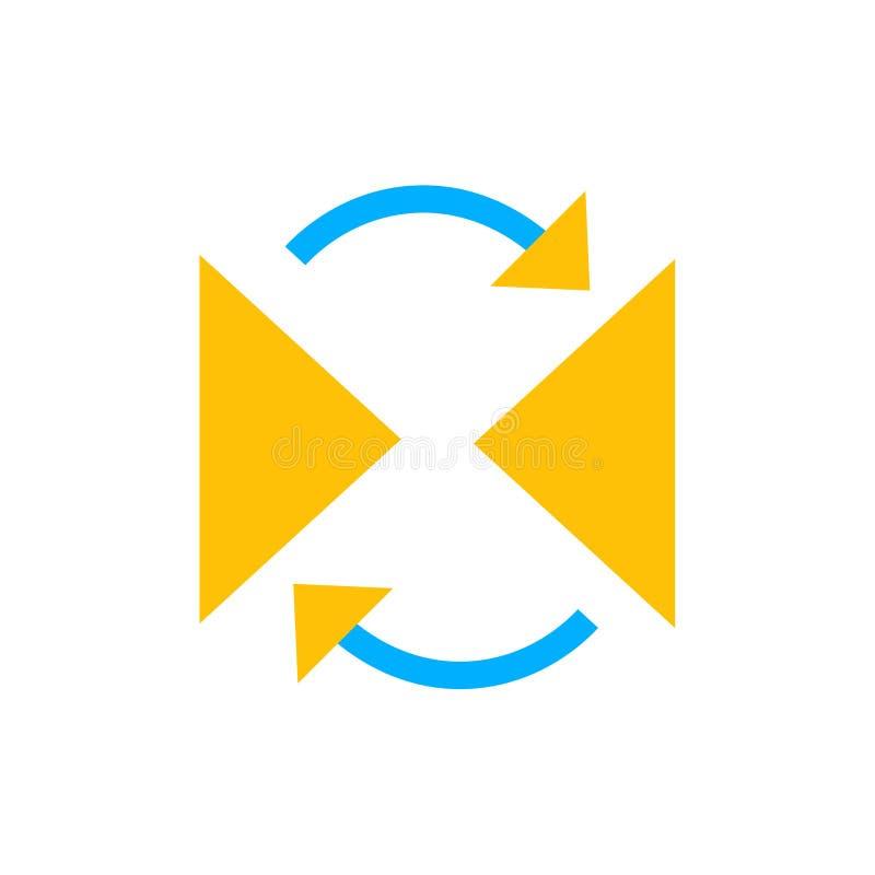 反射象传染媒介标志,并且在白色背景隔绝的标志,反射商标概念 皇族释放例证