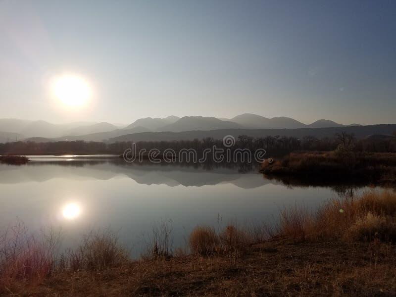 反射Mountains湖科罗拉多 库存图片