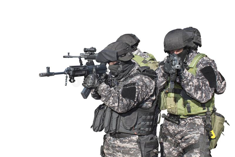 反恐,特种部队战士的斗争 图库摄影