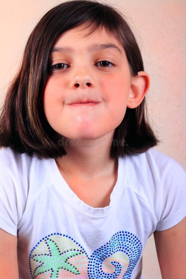 反抗女孩 免版税库存图片