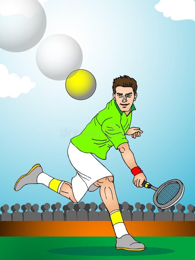 反拍网球 库存例证