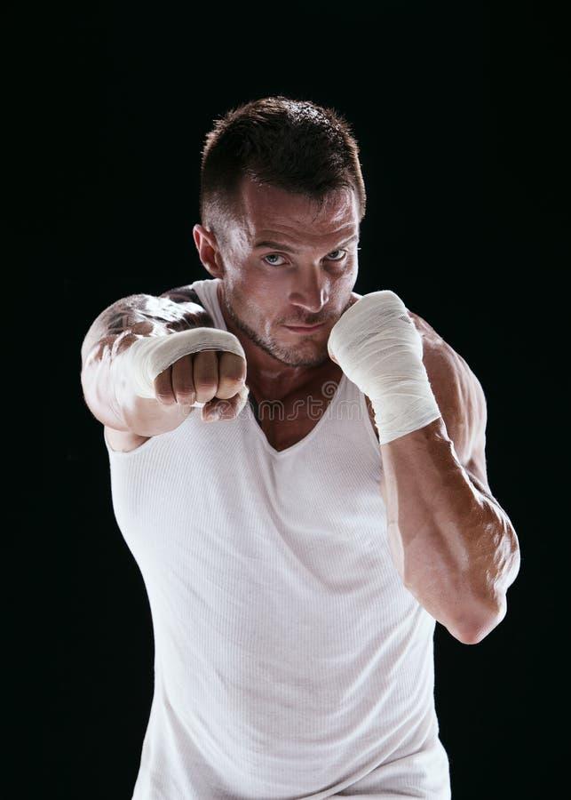 反撞力拳击手 库存照片