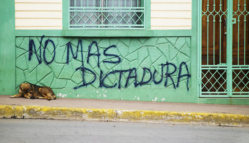 反政府街道画尼加拉瓜 免版税库存图片