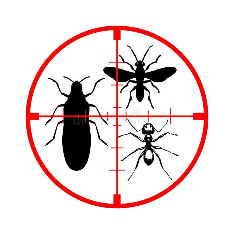 反昆虫 库存例证