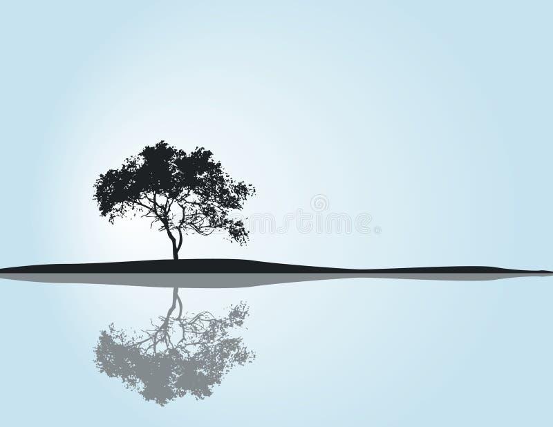 反映结构树 向量例证