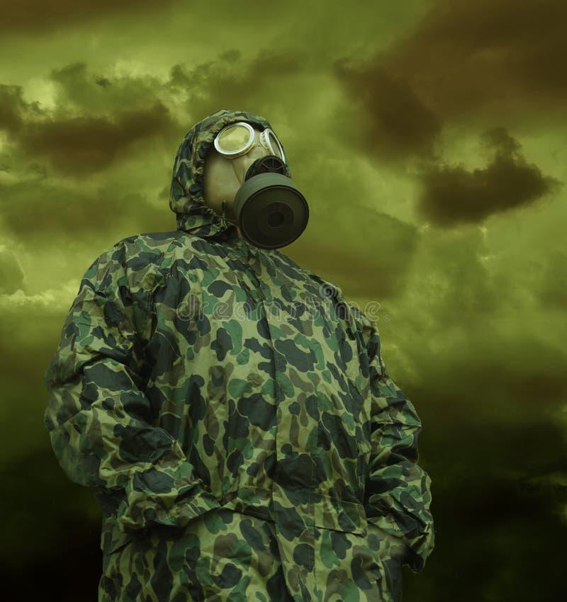 反气体人屏蔽 免版税库存图片