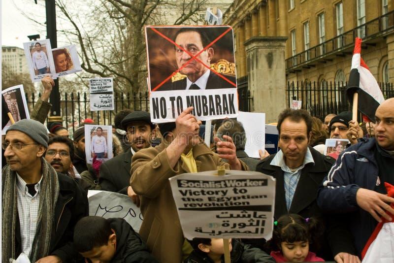 反演示伦敦穆巴拉克 库存图片