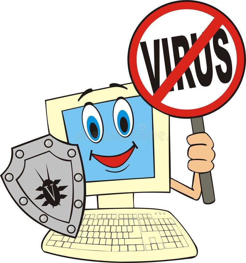 反病毒 皇族释放例证
