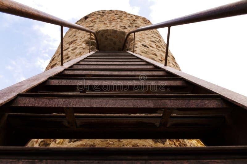 反砍楼梯和倪望塔 库存照片