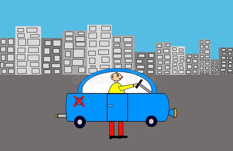 反空气污染的汽车 库存例证