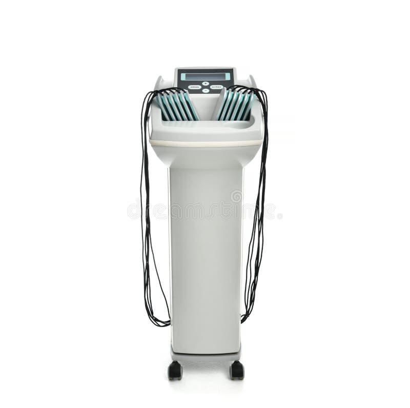 反脂肪团和反肥胖疗法机器紧的屁股的在美容院 机体关心英尺健康温泉水妇女 超声波气蚀治疗 图库摄影