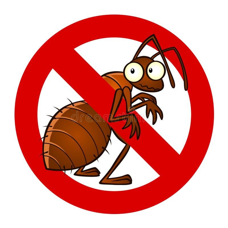 反蚂蚁标志 向量例证