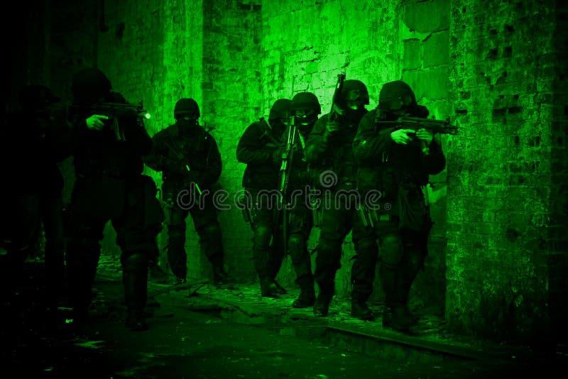 反警察细分恐怖分子 库存图片