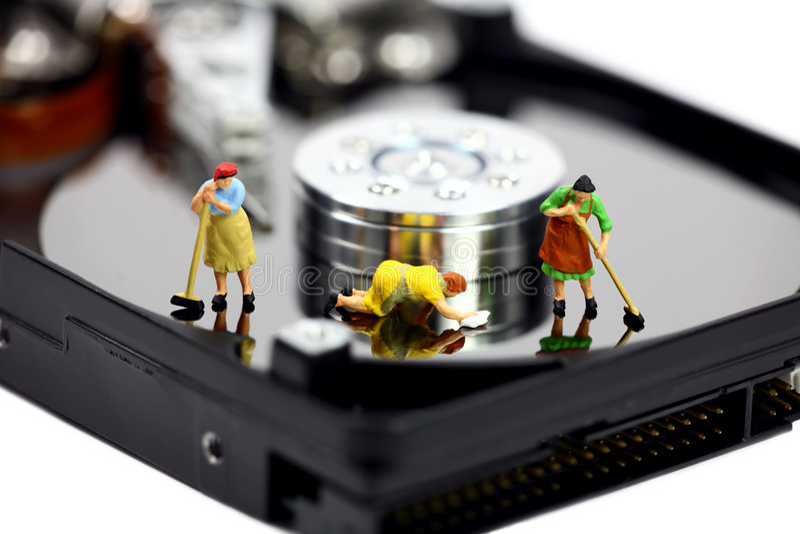 反计算机概念证券病毒 图库摄影