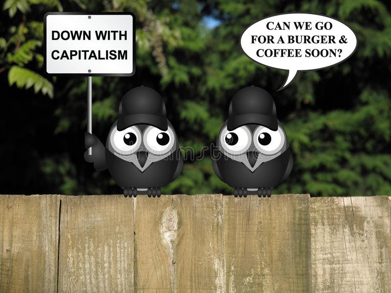 反资本主义抗议 向量例证