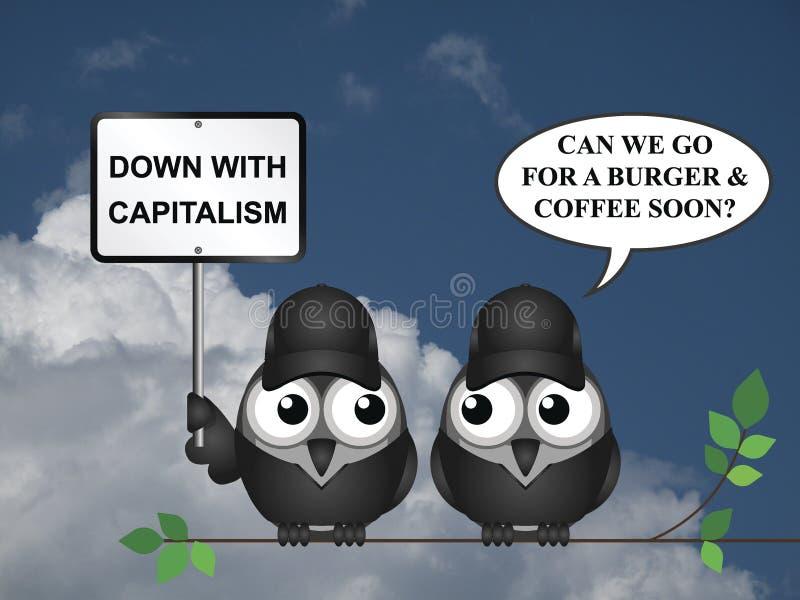 反资本主义抗议 库存例证