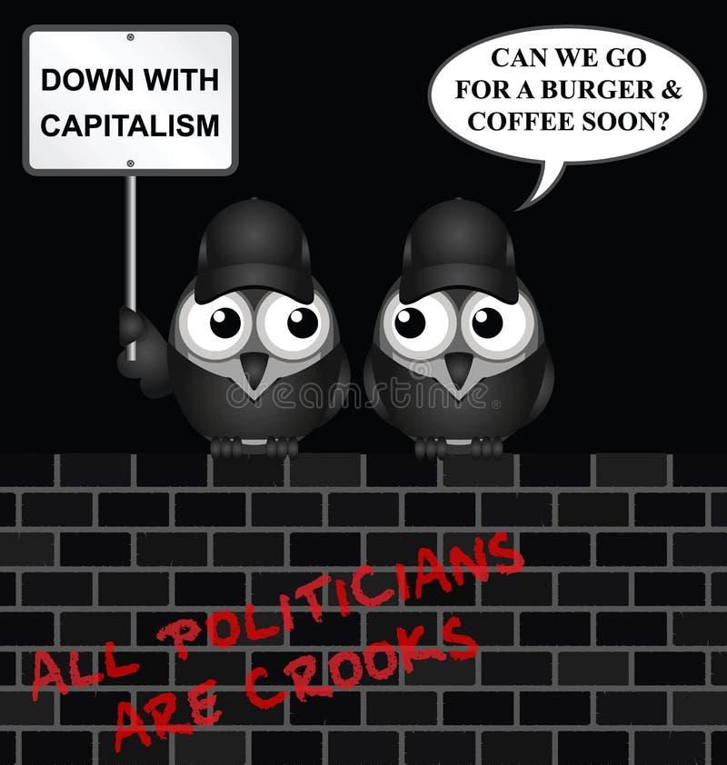 反资本主义抗议 皇族释放例证