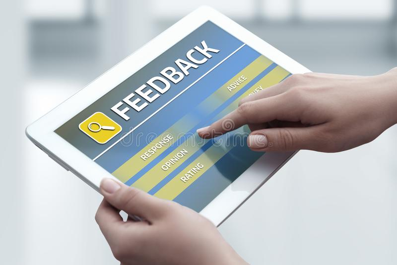 反馈企业质量观点服务通信概念 免版税库存图片