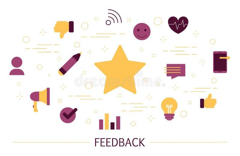 反馈概念 用户额定值的想法 向量例证
