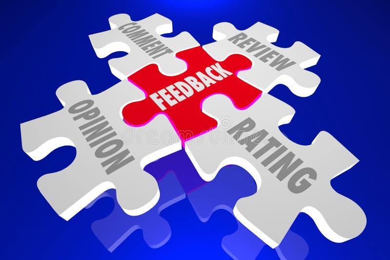 反馈观点评论规定值回顾难题 向量例证
