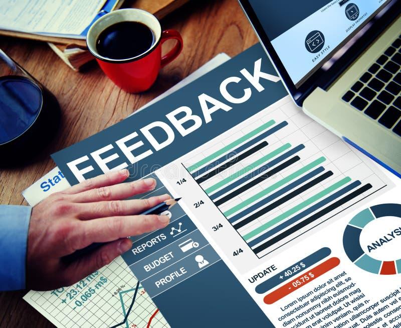 反馈满意运作Concep的信息企业办公室 免版税库存照片