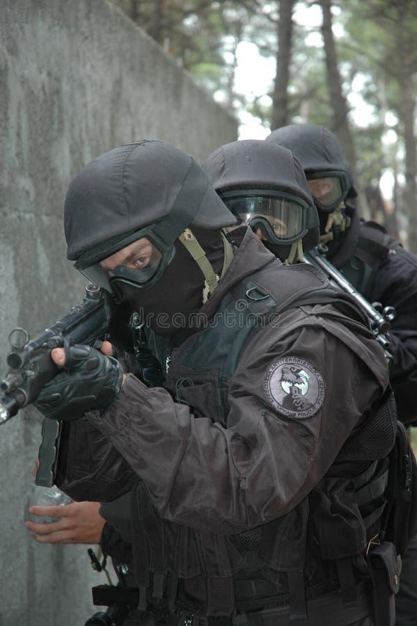 反暴力恐怖份子的单位房子 库存图片