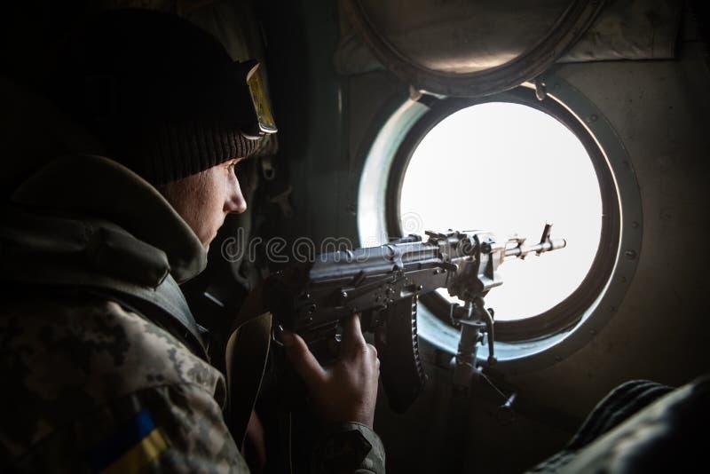 反暴力恐怖份子的操作在顿涅茨克地区,乌克兰 库存图片