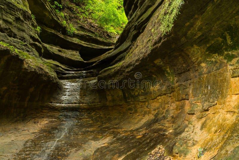 发光入极光峡谷的阳光 免版税图库摄影