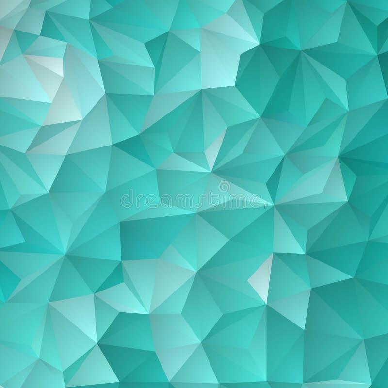 发光六角模板的浅兰的传染媒介 与梯度的五颜六色的抽象例证 r 库存例证