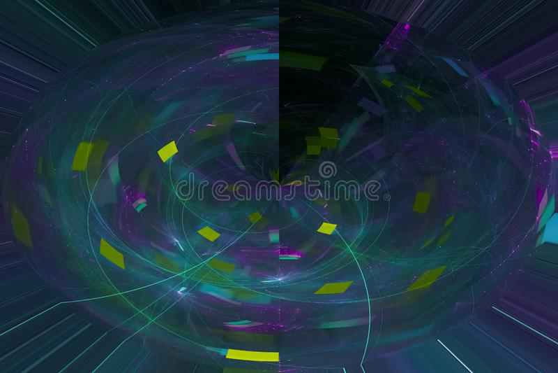 发光回报波斯菊科学样式纹理背景飞溅力量幻想爆炸设计飞溅,闪闪发光 皇族释放例证