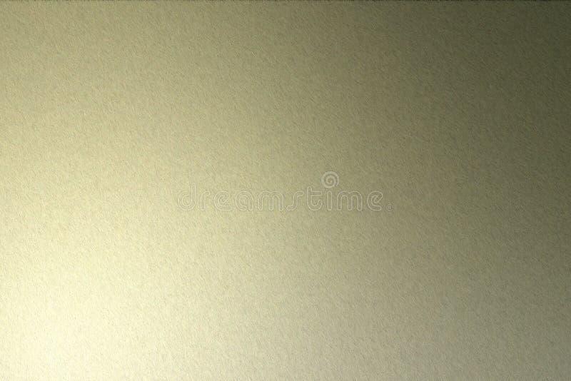 发光在概略的黑褐色钢墙壁纹理,抽象背景的光 向量例证