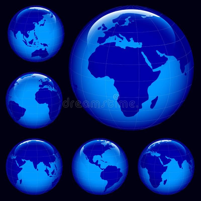 发光地球的映射 皇族释放例证