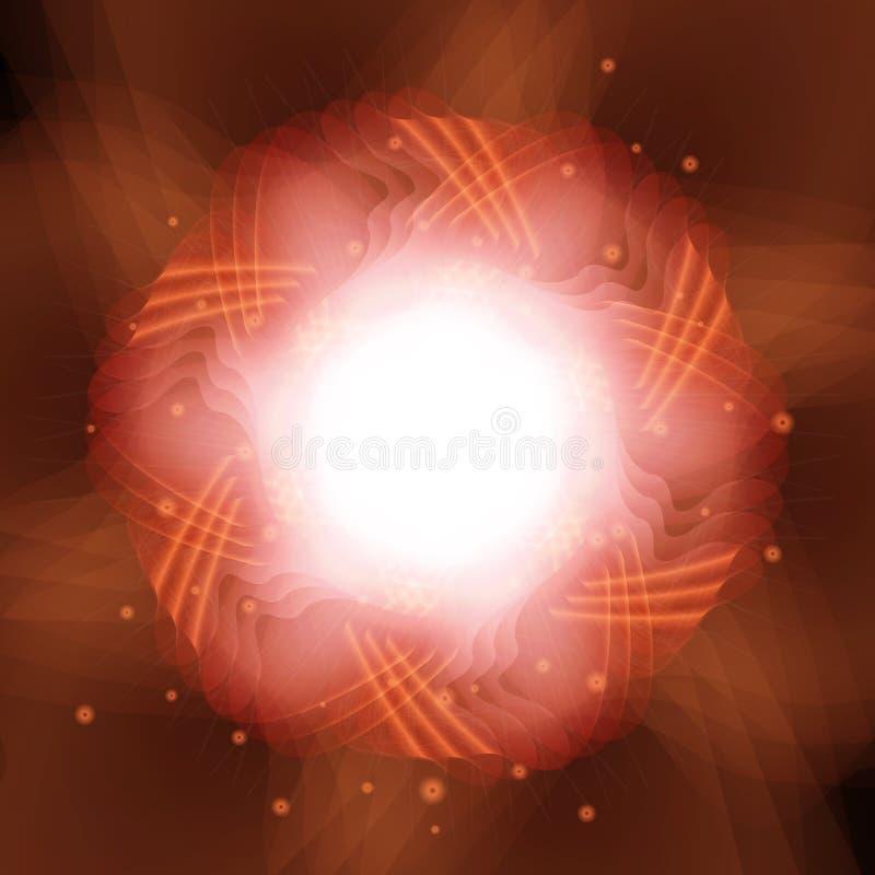 发光抽象背景的圈子 10 eps 皇族释放例证