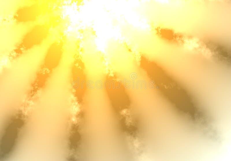 发光星期日的云彩 向量例证