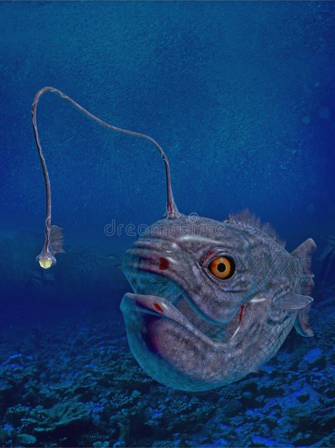 发光灯笼鱼 皇族释放例证
