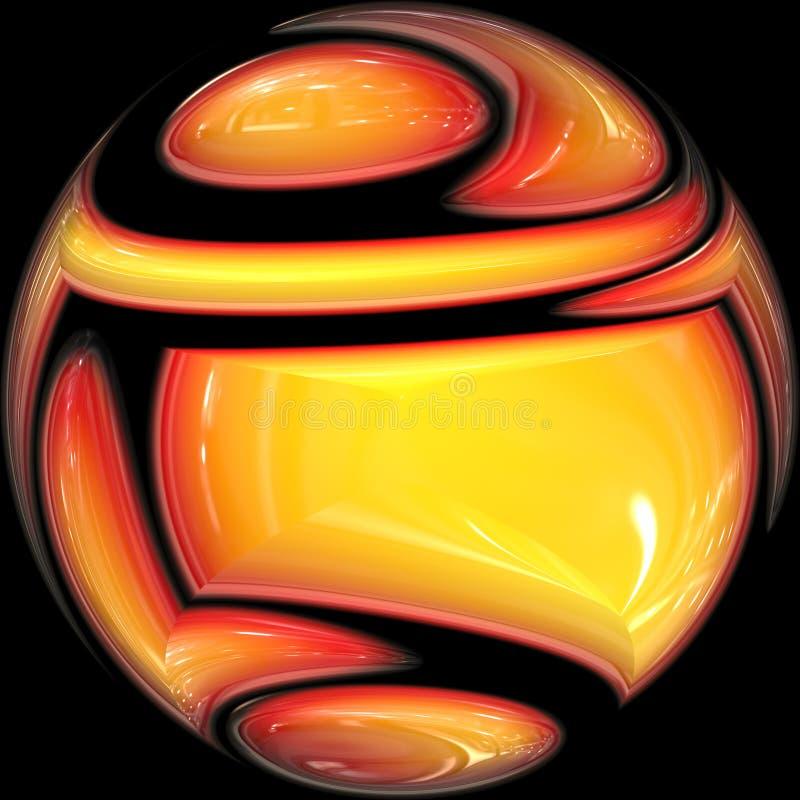 发光球的水晶 库存例证