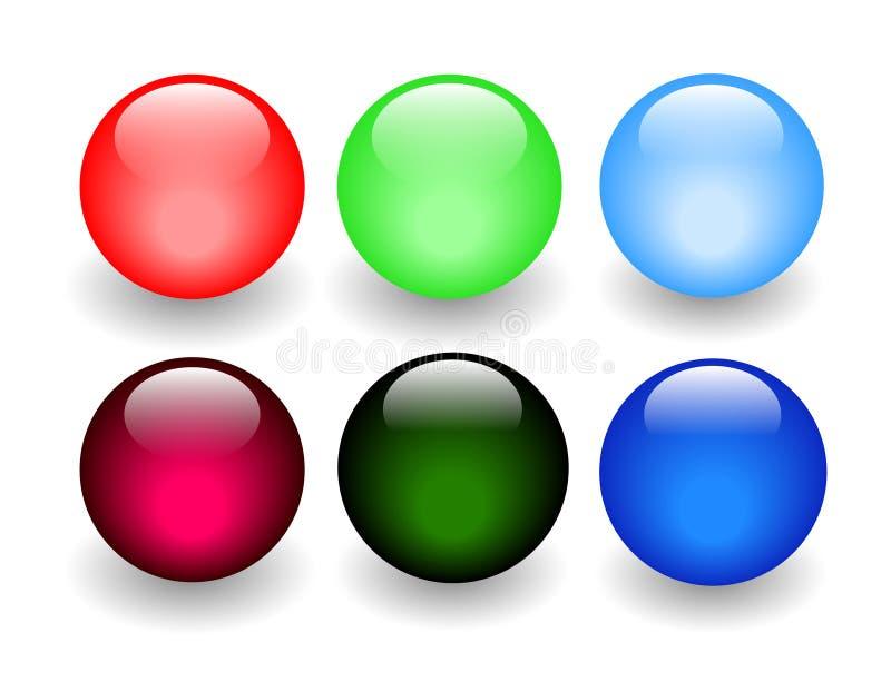 发光球的玻璃 皇族释放例证
