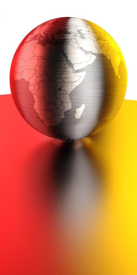 发光球的金属 免版税库存照片