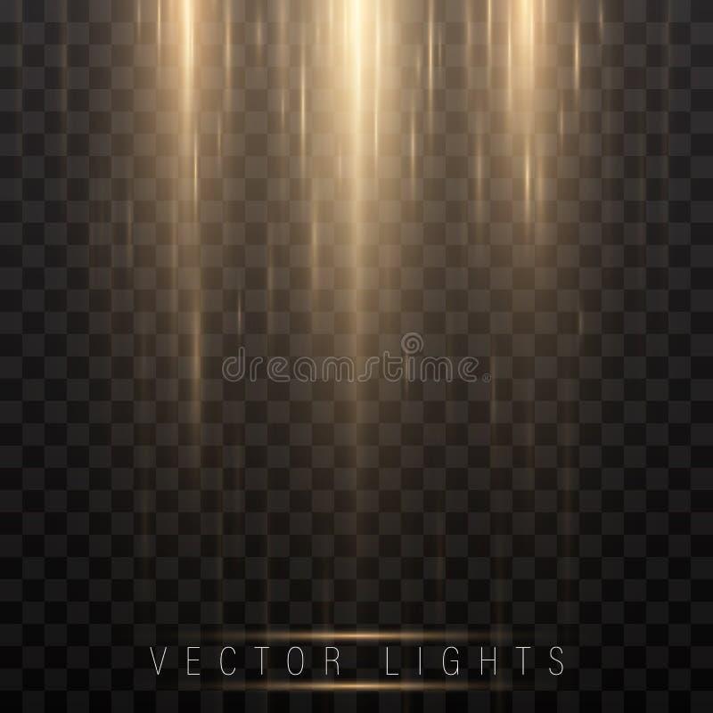 发光的不可思议的光线影响和长的足迹射击行动、传染媒介艺术和例证 抽象焕发灯光管制线, 皇族释放例证