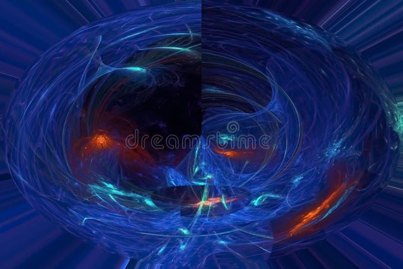 发光的不可思议的高雅意想不到的纹理元素不可思议的想象力火花爆炸幻想设计 皇族释放例证