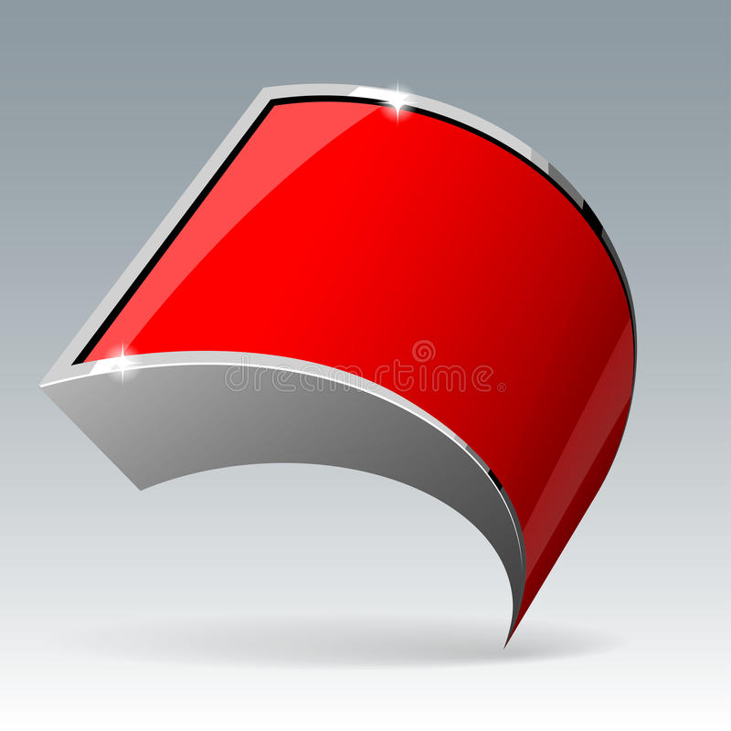 发光的光泽红色横幅 向量例证