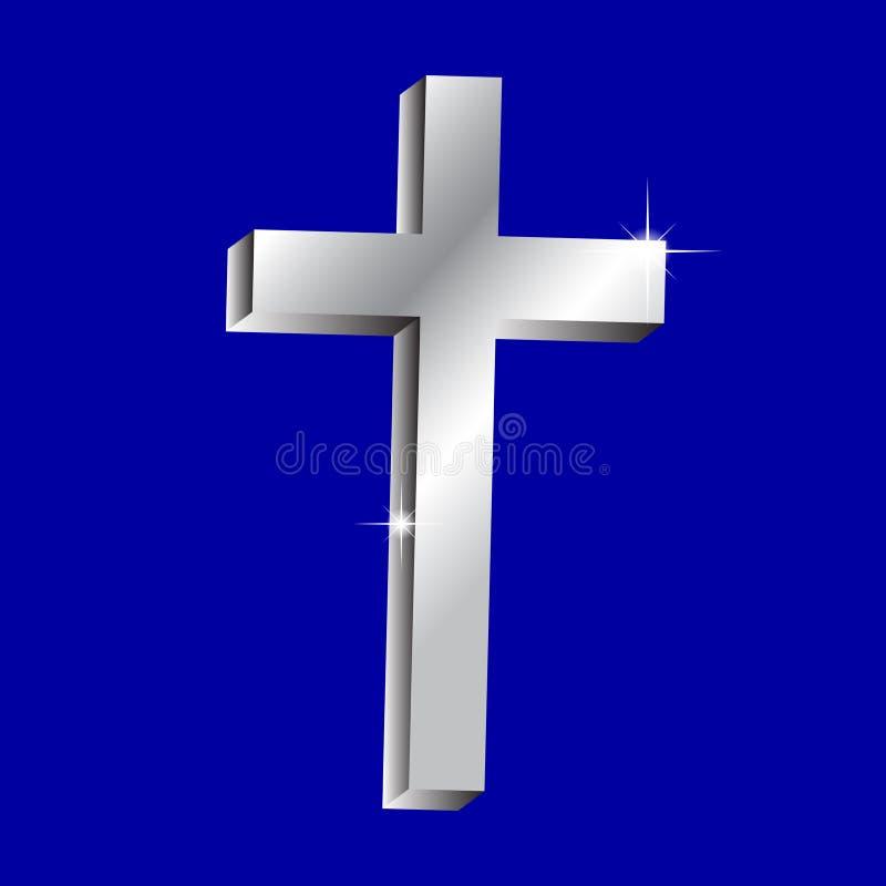 发光的十字架 库存例证