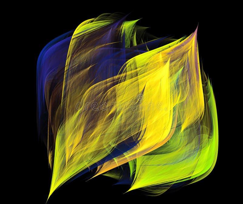 发光的发光的波浪背景 库存照片